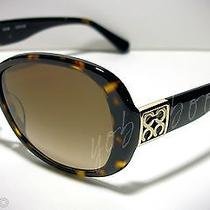Auth Coach Women Sunglasses Tortoise Frame Brown Gradient Lens W/ Case Nib Photo