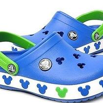 Auth Croc Mickey Crocband Summer Shoes Slipper usac10.11 Kids Children Sea Blue Photo