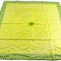 Auth Excellent Hermes Scarf 100% Silk Radial Pattern Green With Box 20102 Photo