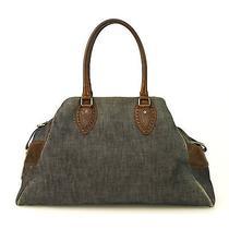 Auth Fendi Bag De Jour Large Blue Denim & Brown Leather Bag / Tote / Handbag Photo