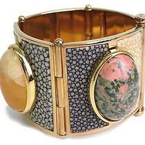 Auth Fendi Bracelet Metal Gold/multicolor(bf066201) Photo