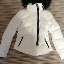 Auth Fendi White Puffer Jacket With Fox Furry Hood  Photo