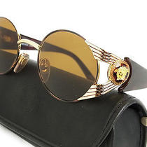 Auth Gianni Versace Rare Medusa Logos Marble Pattern Sunglasses 13634esab Photo