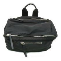 Auth Givenchy Pandora Cubic Messenger Shoulder Bag Black Nylon Photo