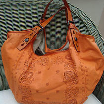 Auth Givenchy Soft Orange Leather Slouchy Shoulder Bag Sac Borsa Photo