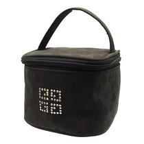 Auth Givenchy Vanity Cosmetics Pouch Pouch Unisex Rhinestone With Diamond Patter Photo