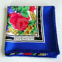 Auth Givenchy Women's 100% Silk Scarf/hand-Rolled/france/great for Spring/beauty Photo