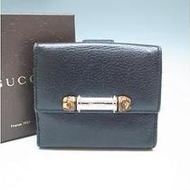 Auth Gucci Bifold Wallet 233049 Black 014048 Photo