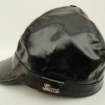 Auth Gucci Black Coated Hat - Sz Small Unisex - Perfect Gift Photo
