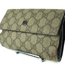 Auth Gucci Gg Pattern Pvc Canvas Waist Pouch Clutch Bag Gw0998l Photo