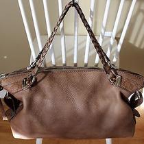 Auth Gucci Guccissima Trim Bamboo Bar Brown Shoulder Handbag Tote Bag Extra Lg Photo