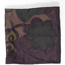 Auth Gucci Purple Paisley Print Silk Scarf Photo