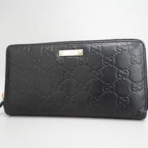Auth Gucci Wallet Micro Gg Guccisimma Patent Leather Black 05110443700 1075 Photo
