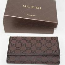 Auth Gucci Women Guccissima Gg Logotrifold Wallet Photo