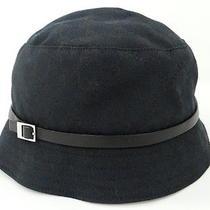 Auth Gucci Women's Hat Size L Gg Monogram Cotton Black Italy 18120038700 4307 Photo