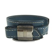 Auth Hermes Artemis Bangle Bracelet Veau Box Blue Jean(bf060299) Photo