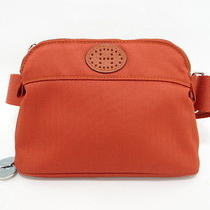 Auth Hermes Bag Pouch Bolide Golf Waist Canvas Orange With Tees 10120278900 7317 Photo