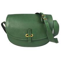 Auth Hermes Balle De Golfe  Shoulder Bag Leather Green France Vintage 67t565 Photo
