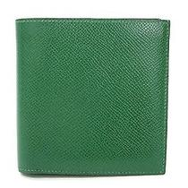 Auth Hermes Bifold Wallet Couchevel Green (Bf105674) Photo