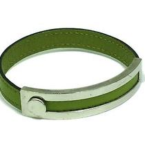 Auth Hermes Bracelet Chevre Moss Green(bf055645) Photo