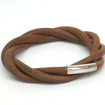 Auth Hermes Bracelet Leather Brown(bf036881) Photo