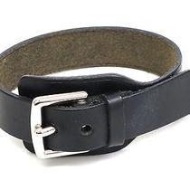Auth Hermes Bracelet Leather/metal Black (Bf077349) Photo