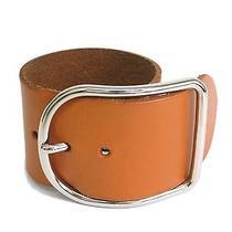 Auth Hermes Bracelet Veau Box Brown(bf051926) Photo