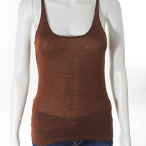 Auth Hermes Brown Sleeveless Scoop Neck Vest Shell Tank Top Sweater Euro Sz 36 6 Photo
