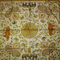 Auth Hermes  Carre Kantha Scarf Photo