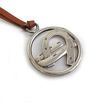 Auth Hermes Chocker/necklace/pendant Hoof Leather/silver 925 Brown (Bf072651) Photo