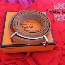 Auth Hermes Choker Bracelet Belt / Length 28 In. / Leather / Used Photo