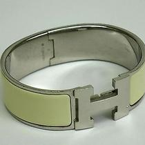 Auth Hermes Clic H Gm Bracelet Metal White/silver(bf059467) Photo