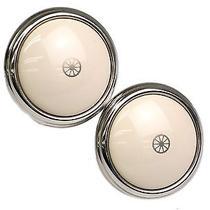 Auth Hermes Clip Earrings Palladium Silver/white (Bf075335) Photo