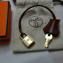 Auth Hermes Clochette Cadena Lock With Two Keys(gold Plated Hardware ) Photo