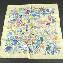 Auth Hermes Colorful Leaves 100% Silk Scarf Chief Burly Wood 40110036700 6  Photo