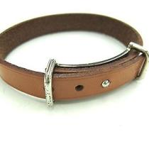 Auth Hermes Hapi Ii Bracelet Leather Natural(bf060317) Photo