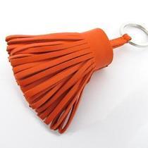 Auth Hermes Lambskin Carmen Key Chain Key Holder Ring Feu Free Shipping Photo