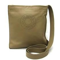 Auth Hermes Lambskin Crude Cell Shoulder Bag Crossbody Etoupe Photo