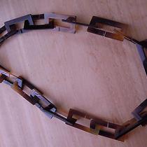 Auth Hermes  Long Buffalo Horn Necklace H  Photo