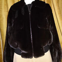 Auth Hermes Luxurious Mink & Leather Jacket Photo