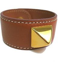Auth Hermes Medor Bracelet Leather Brown (Bf073317) Photo