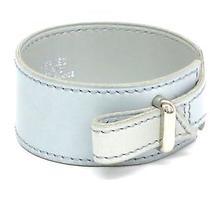 Auth Hermes Navab Bracelet Bracelet Veau Gulliver Blue Gray (Bf070959) Photo