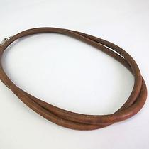 Auth Hermes Necklace Leather Brown(bf052211) Photo