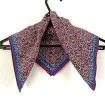 Auth Hermes Petit Carre Blue Red Multi Scarf Photo