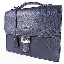 Auth Hermes Sac a Depeche 27 Breifcase Business Hand Bag Vache Liege O a-2815 Photo