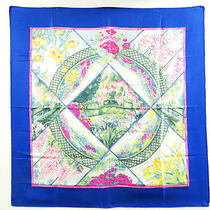 Auth Hermes Silk Scarf  Carre