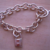 Auth Hermes Silver Bracelet With Cadena Photo