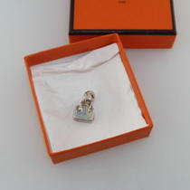 Auth Hermes Silver Sterling Silver Pendant Charm New 575 Photo
