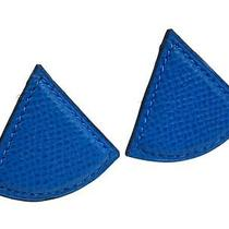 Auth Hermes Triangle Clip Earrings Couchevel Blue (Bf075342) Photo
