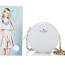 Auth. Kate Spade New York on Par Dotty (Rare) White Golf-Ball Inspired Bag. Photo